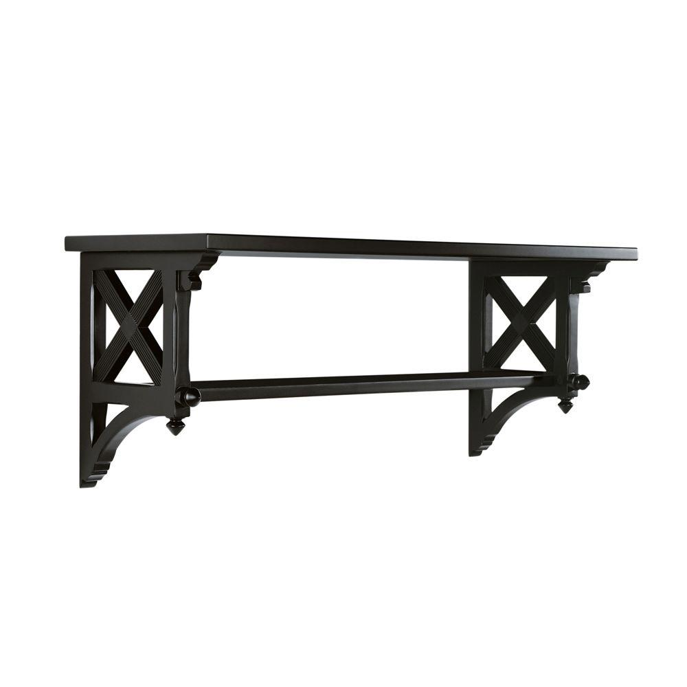 Martha Stewart Living 14.25 in. W Large Silhouette Country Double Shelf