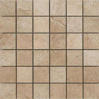 St. Moritz Ii Cotton 11.73 in. x 11.73 in. x 8mm Porcelain Mesh-Mounted Mosaic Tile (0.97 sq. ft.)
