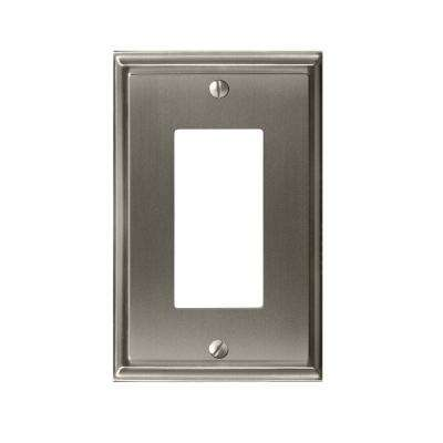Mulholland 1-Rocker Wall Plate, Satin Nickel