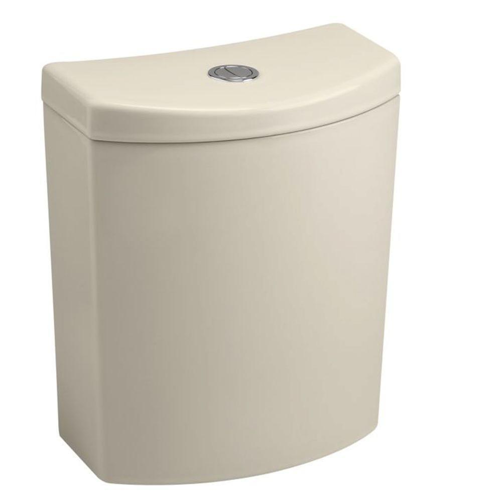 KOHLER Persuade Curve 1.0 or 1.6 GPF Dual Flush Toilet Tank Only in Almond