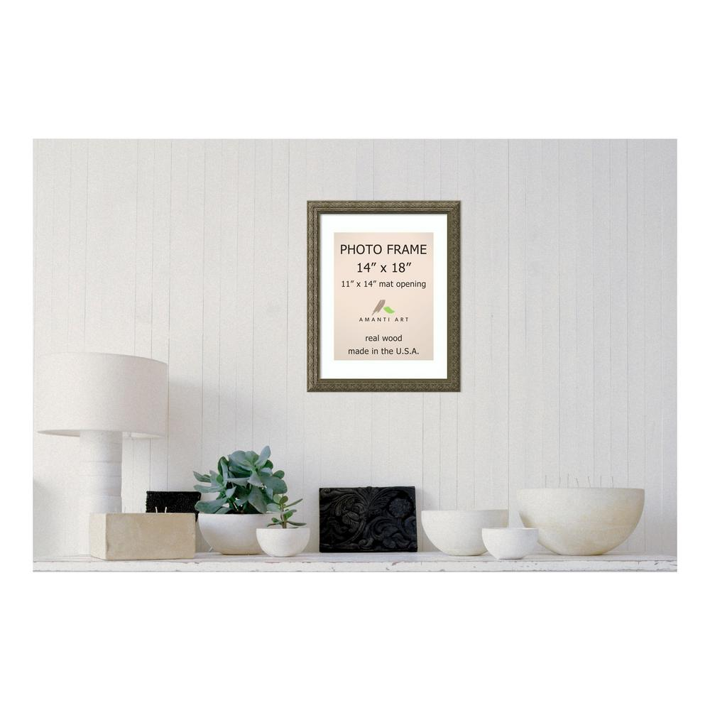 Amanti Art Picture Frame, 14x18 Matted to 11x14 Alexandria White ...