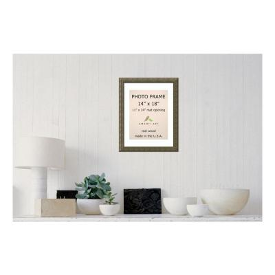 Barcelona 11 in. x 14 in. White Matted Gold Champagne Picture Frame