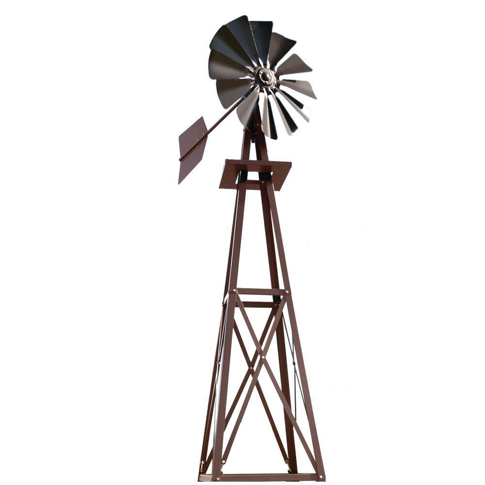 Small Bronze Powder Coated Backyard Windmill