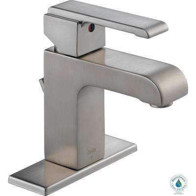 Arzo Single Hole Single-Handle Bathroom Faucet with Metal Drain Assembly in Stainless