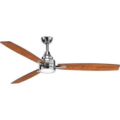 Gaze Collection 60 in. LED Polished Chrome Ceiling Fan