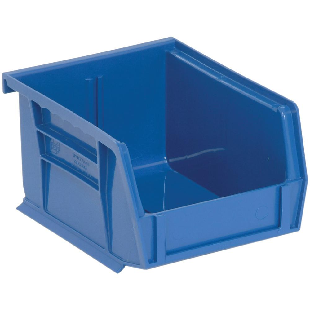 Ultra Series Stack and Hang 1 Gal. Storage Bin in Blue