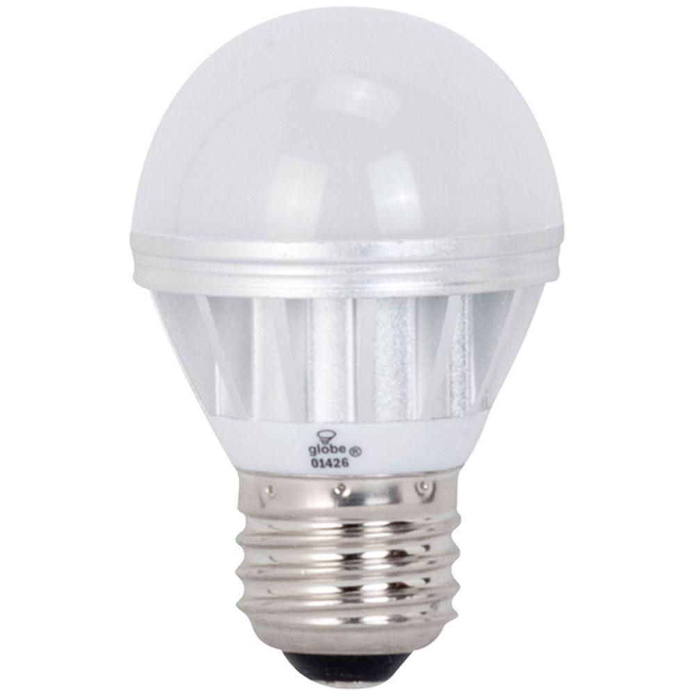 Globe Electric 25W Equivalent Bright White (3000K) G16.5 LED Globe Light Bulb