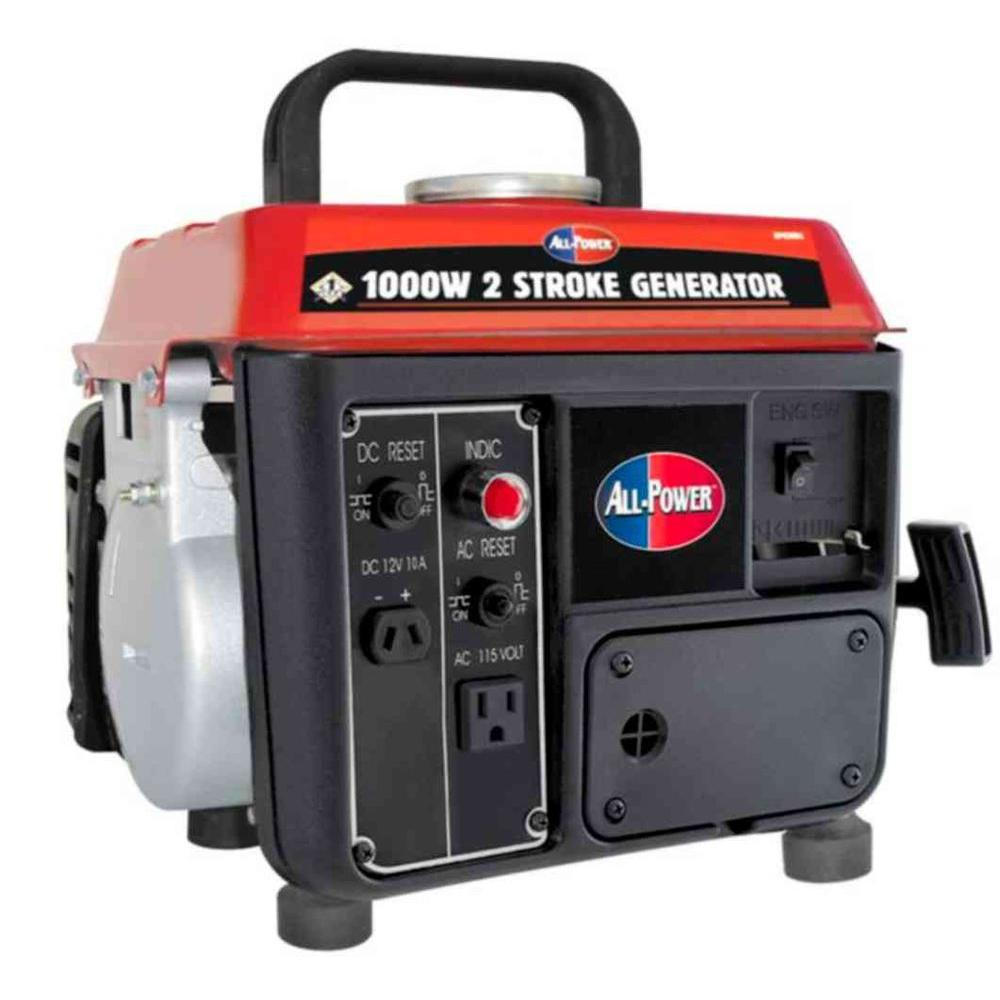 All Power 850-Watt Gas and Oil Mix Powered Portable Generator ...