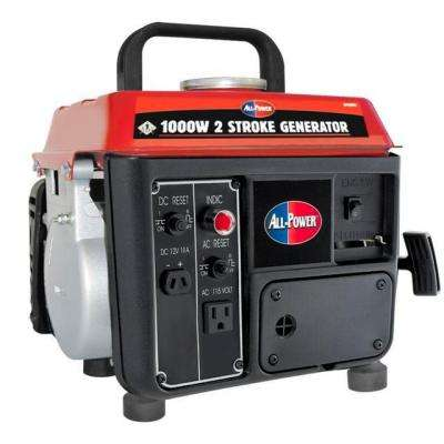 850-Watt Gas and Oil Mix Powered Portable Generator