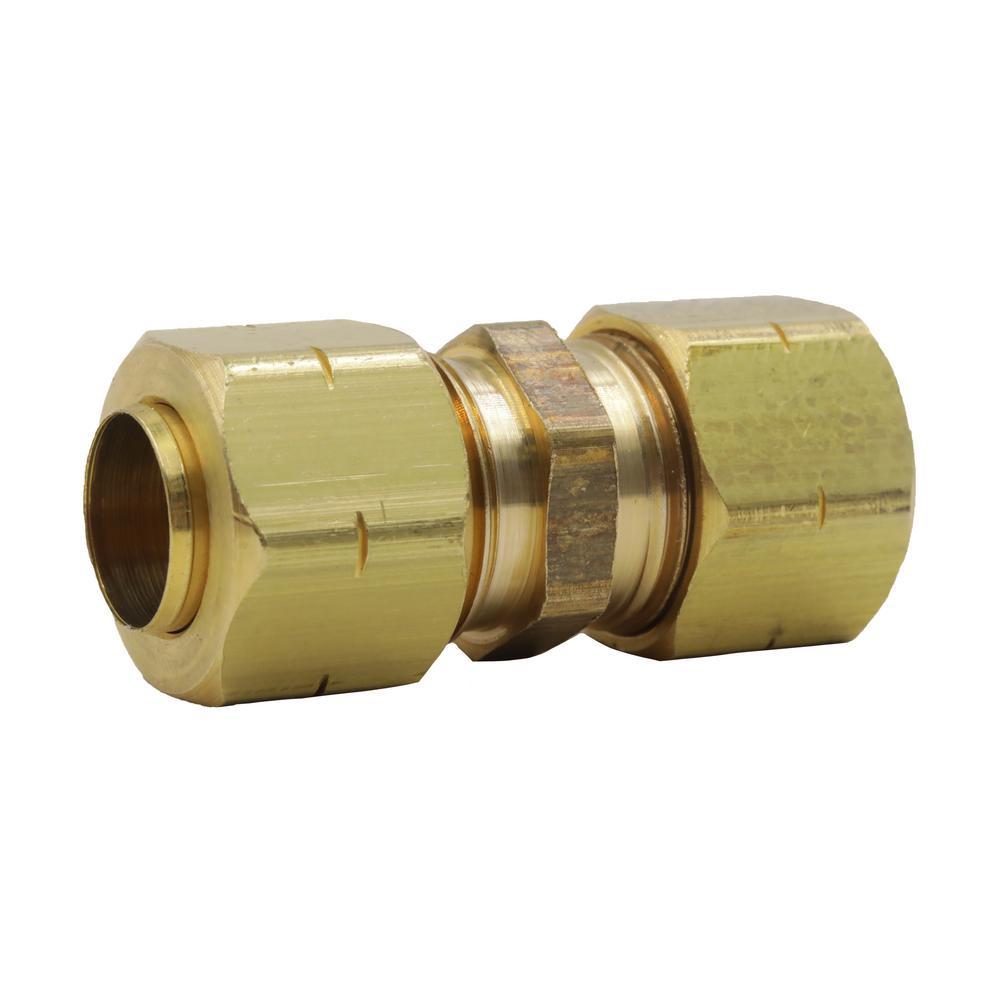 foto de Everbilt 3/4 in. FHT x 3/8 in. OD Compression 90-Degree Brass ...