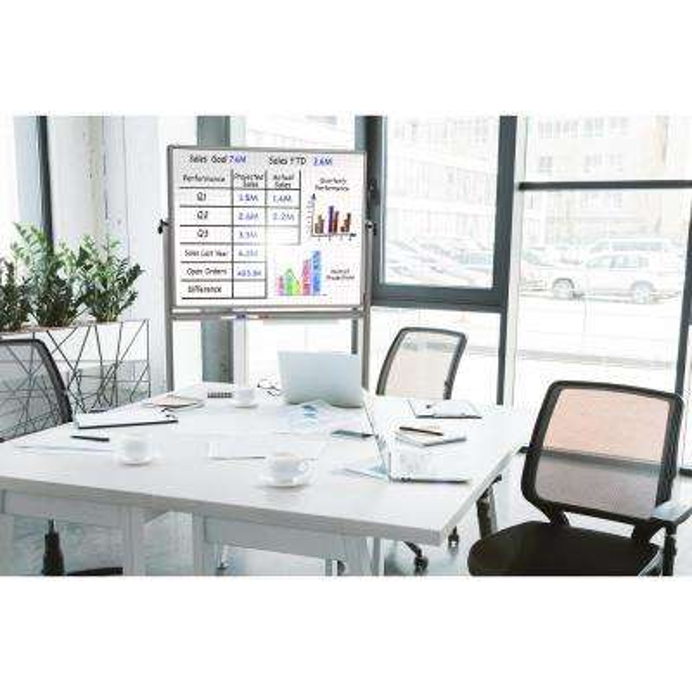 Lean Board 48 in. x 36 in. Mobile Magnetic Whiteboard (1-Pack)