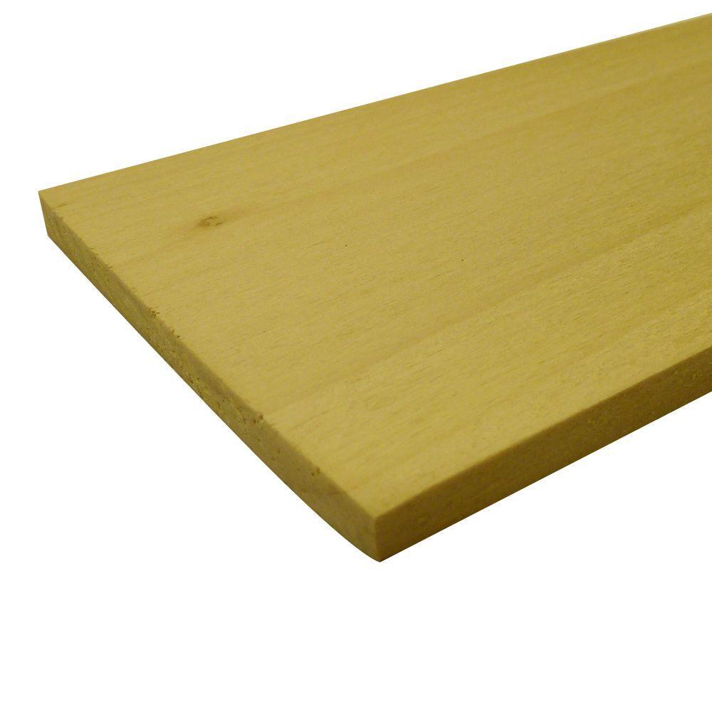 Poplar Hobby Board (Common: 1/4 in. x 8 in. x 4