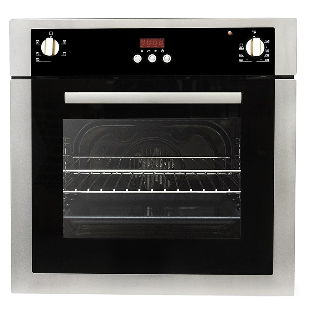 Cosmo 24 in. 2 cu. ft. Single Electric Wall Oven with 5 Functions and on