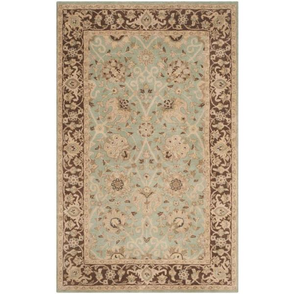 Safavieh Antiquity Green Brown 4 Ft X 6 Ft Area Rug At21h 4 The Home Depot