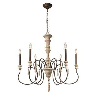 white incandescent chandeliers lighting the home depot rh homedepot com shabby chic candle chandelier white shabby chic candle chandelier white