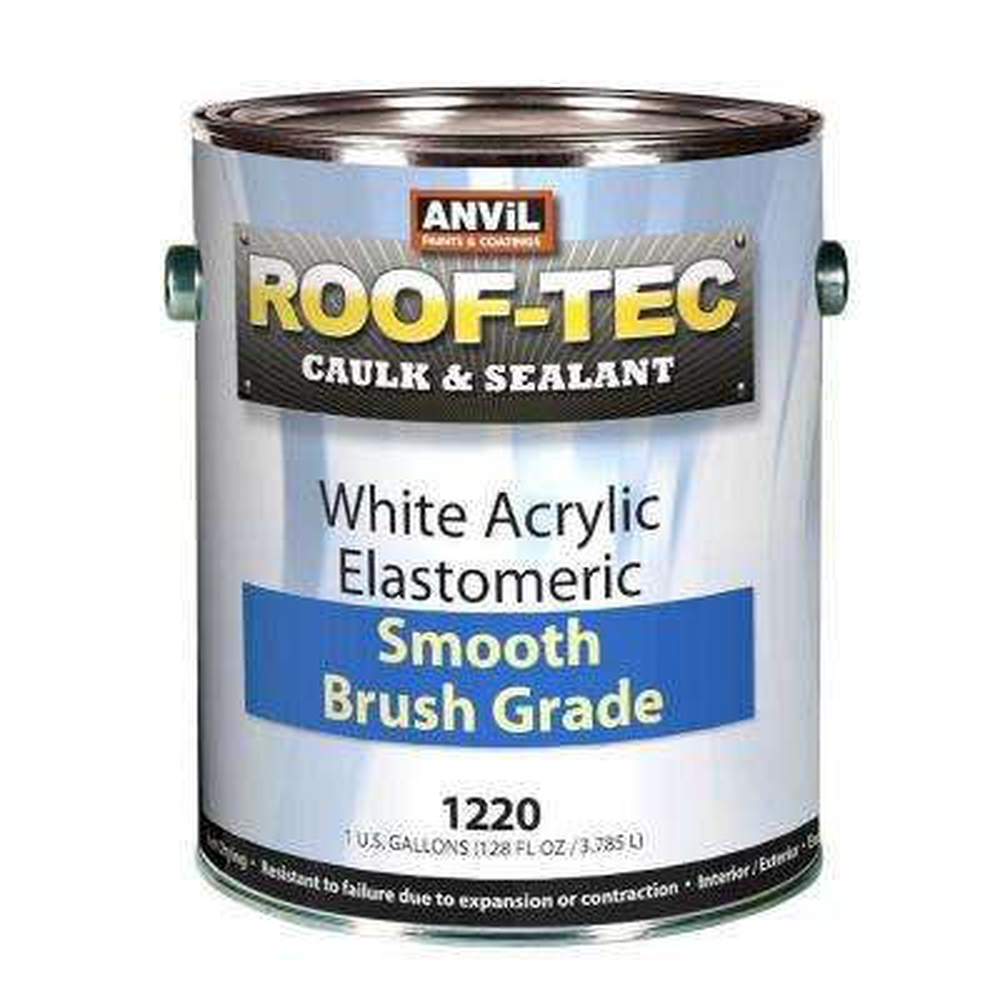 1 Gal. Acrylic White Elastomeric Smooth Brush Grade Caulk and Sealant