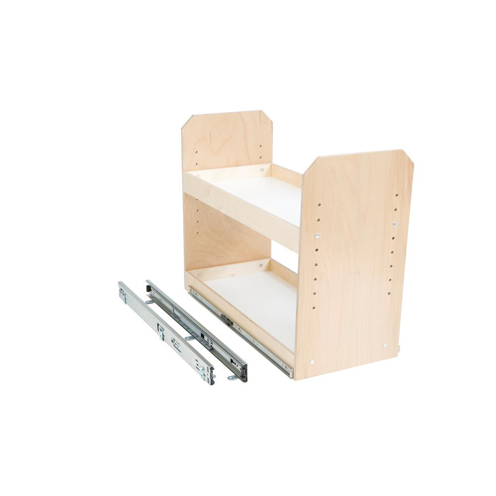 Slide-A-Shelf Made-To-Fit 2 Tier Adjustable Tower Cabinet