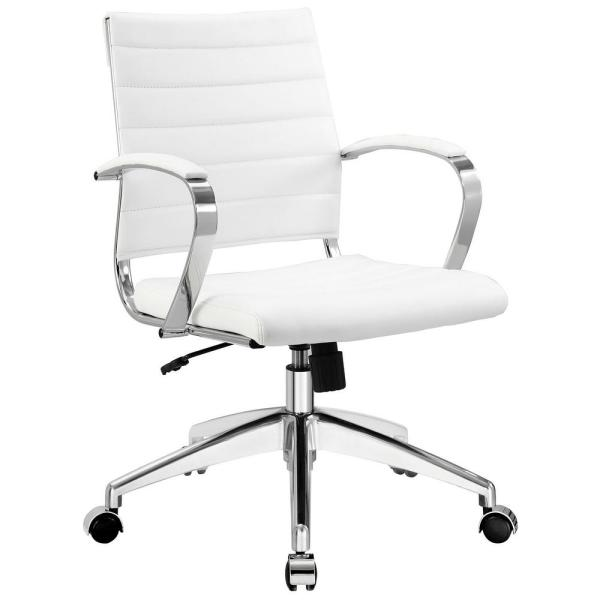 MODWAY Jive Mid Back Office Chair in White EEI-273-WHI