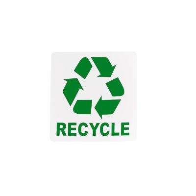 6 in. x 6 in. Self Adhesive Recycle Sign