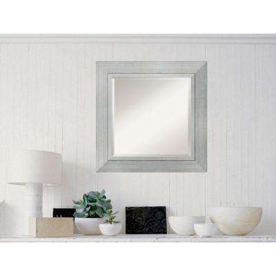 Romano Silver Wood 27 in. W x 27 in. H  Contemporary Framed Mirror