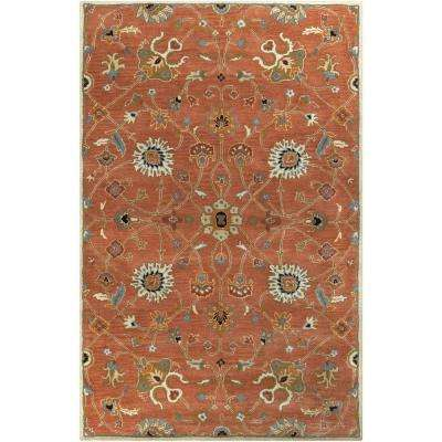 Albi Peach 4 ft. x 6 ft. Indoor Area Rug