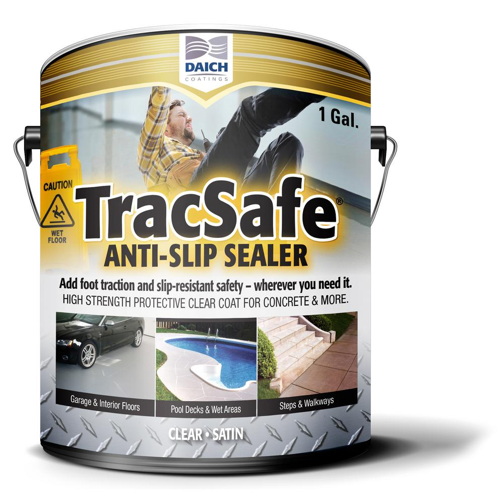 Tracsafe Anti-Slip 1 Gal. Clear Multi-Surface Sealer Water Repellent and Chemical Resistant
