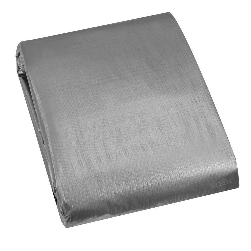12 ft. x 24 ft. Silver Tarp 14x14 Weave