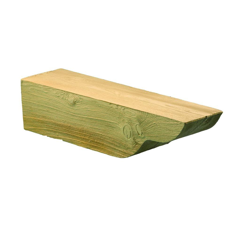 Fypon 5-5/8 in. x 5-7/8 in. x 24 in. Polyurethane Timber Corbel