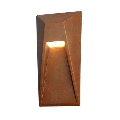 Ambiance Vertice Rust Patina Outdoor Integrated LED Sconce