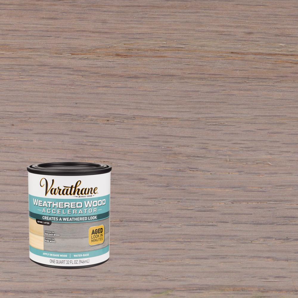 Varathane 1 qt. Interior Weathered Wood Accelerator