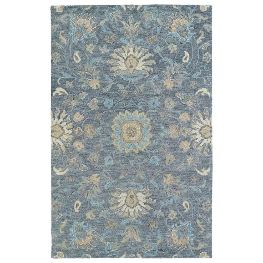 Kaleen Helena Turquoise Area Rug Reviews: Kaleen Helena Graphite 8 Ft. X 10 Ft. Area Rug-3207-68 810