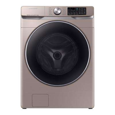 4.5 cu. ft. High-Efficiency Champagne Front Load Washing Machine with Steam and Super Speed