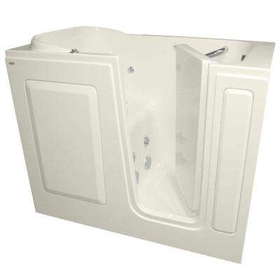 Gelcoat 48 in. x 28 in. Right Hand Quick Drain Walk-In Whirlpool Tub in Linen