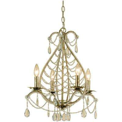 Belinda 4-Light Soft Gold Mini Chandelier