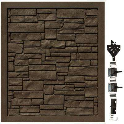EcoStone 5 ft. W x 6 ft. H Dark Brown Composite Privacy Fence Gate