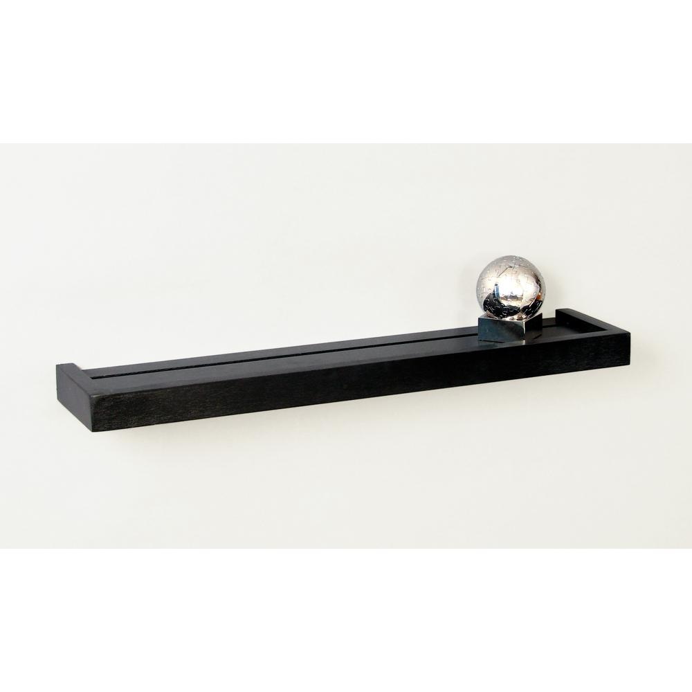 Modern Display Ledge 24 in. W x 5.25 in. D Black