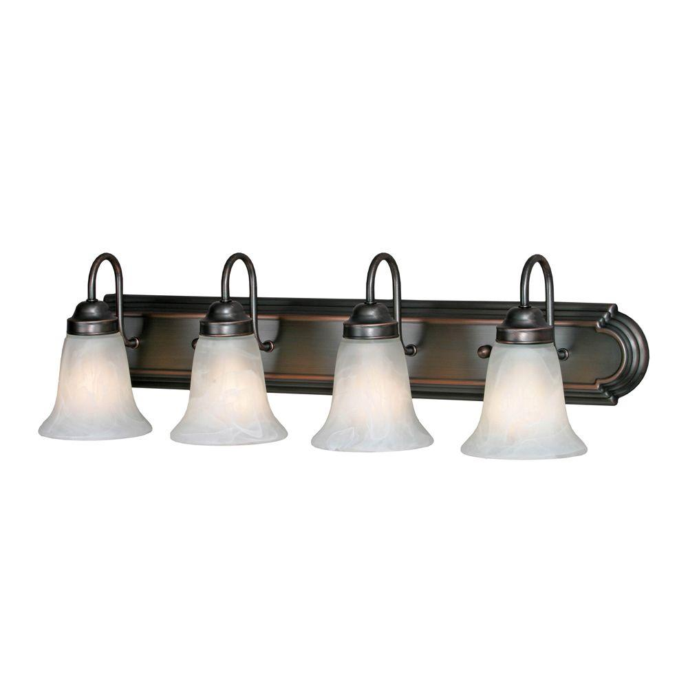 null Yvonne Collection 4-Light Oil-Rubbed Bronze Vanity Light