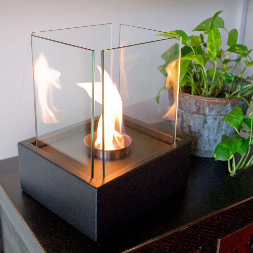 Bring a natural look to your dwelling by choosing this Nu-Flame Lampada Tabletop Decorative Bio-Ethanol Fireplace in Black.