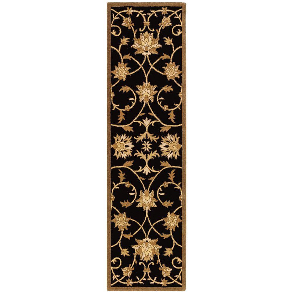 Paloma Black/Gold 2 ft. 3 in. x 7 ft. 6 in.