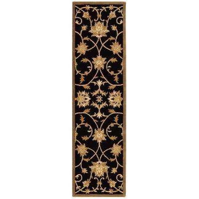 Paloma Black/Gold 2 ft. x 8 ft. Runner Rug