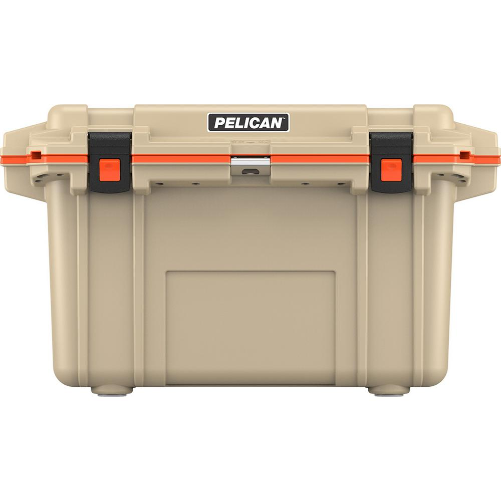 Pelican 70 Qt. Elite Cooler in Tan and Orange