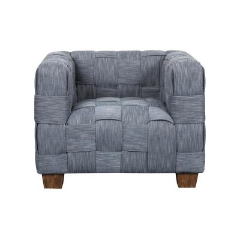 Woven Indigo Accent Chair