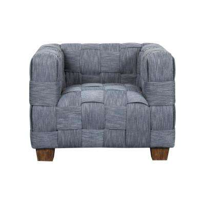 Woven Indigo Accent Chair