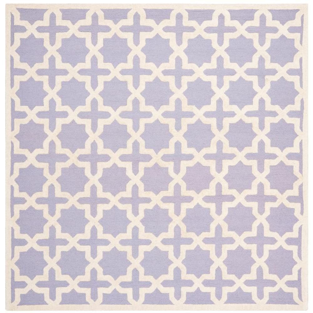 Cambridge Lavender/Ivory 8 ft. x 8 ft. Square Area Rug