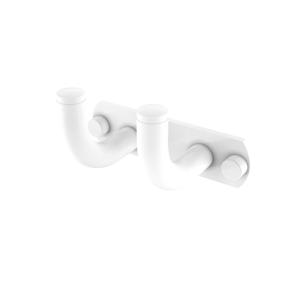 Allied Brass Remi Collection 2-Position Multi Hook in Matte White