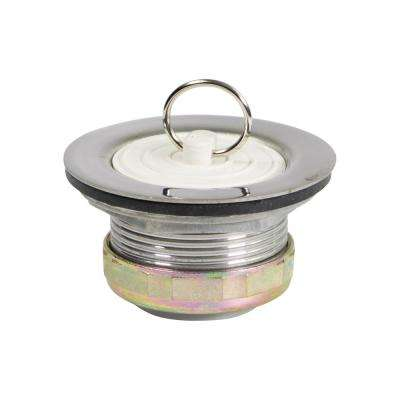 1-7/8 in. - 2-1/4 in. Stainless Steel Bath Tub Drain Assembly with Rubber Stopper Strainer for RV Showers Or Bar Sinks