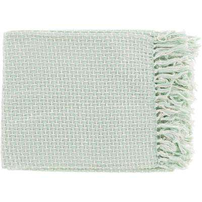 Tullio Mint Cotton Blend Throw