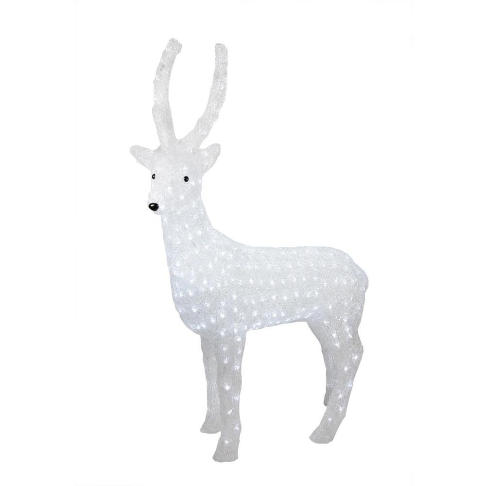 Commercial Grade Christmas Decorations: Home Accents Holiday 65 In. LED Lighted Gold Reindeer And
