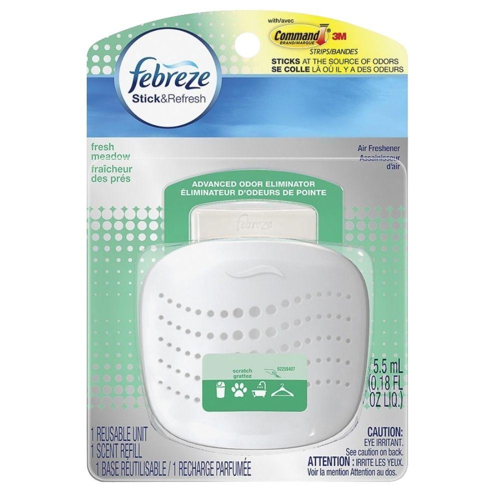 Febreze 0.18 Oz. Stick And Refresh Fresh Meadow Air Freshener Starter Kit
