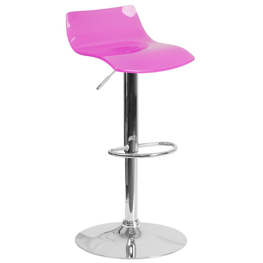 Flash Furniture Adjustable Height Hot Pink Bar Stool